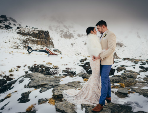 Gemma + Guy / Secret Winter Elopement & Cecil Peak Photo Flight