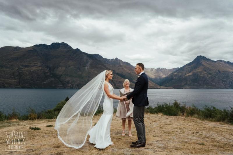 Queenstown lakeside wedding