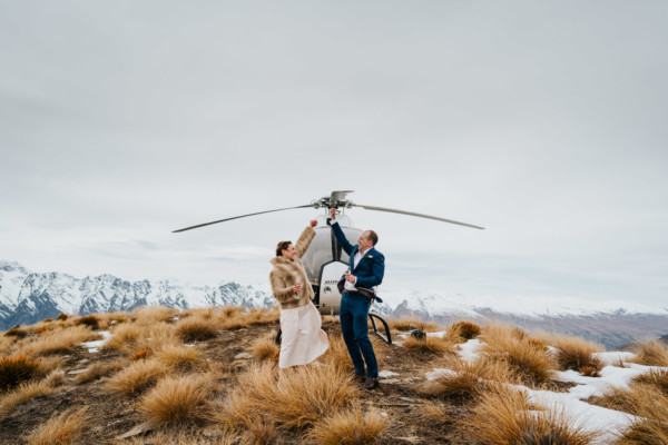 A Cecil Peak winter wedding in Queenstown, New Zealand
