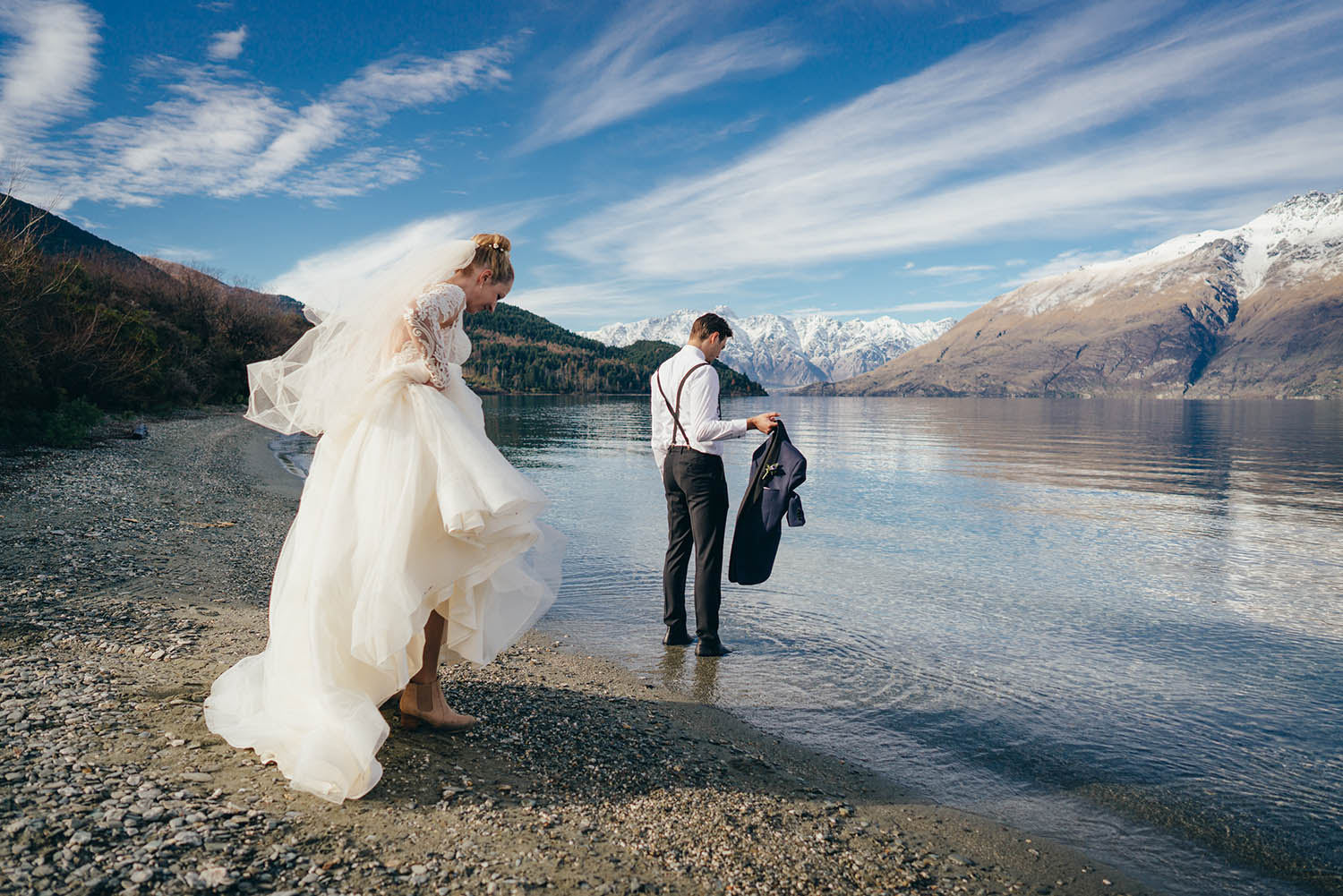 Jo + Shaun / Lake Wakatipu Winter Wedding / The Remarkables