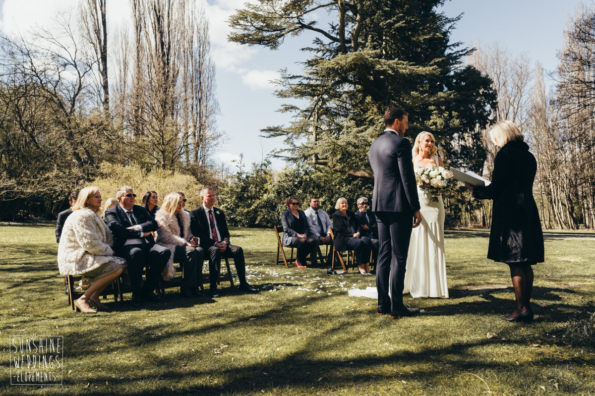 thurlby domain small wedding queenstown wedding